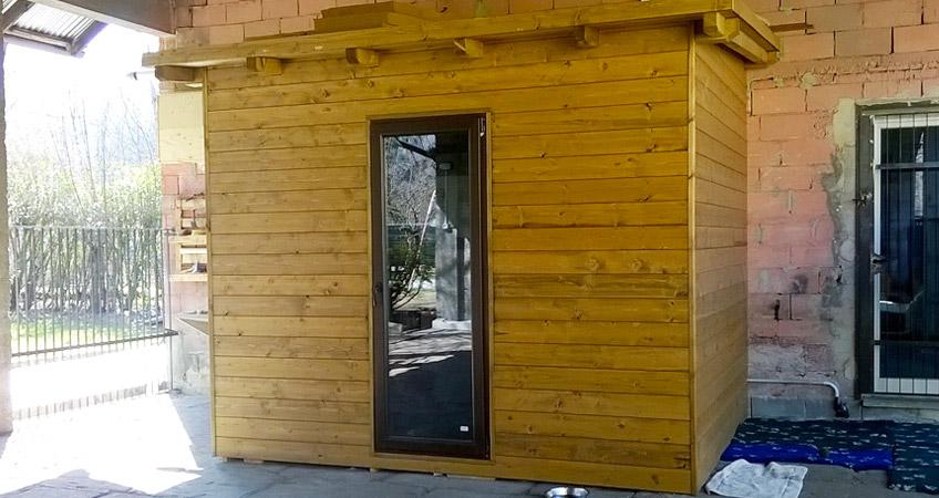Progettazione, vendita casette da giardino in legno